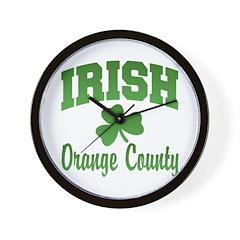 Orange County Irish Wall Clock