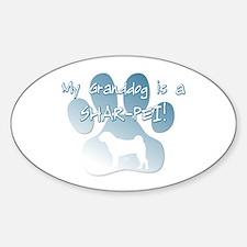 Shar-Pei Granddog Oval Decal