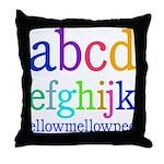 abcdefghijk ellowmellowpee Throw Pillow