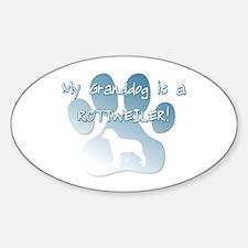 Rottweiler Granddog Oval Decal