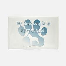 Rottweiler Granddog Rectangle Magnet (10 pack)