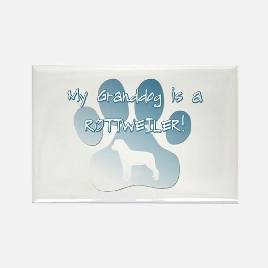 Rottweiler Granddog Rectangle Magnet