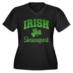 Shreveport Irish Women's Plus Size V-Neck Dark T-S