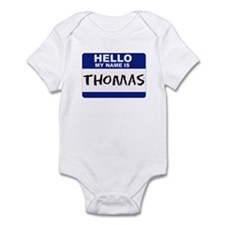 Hello My Name Is Thomas - Infant Creeper