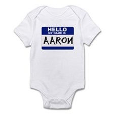 Hello My Name Is Aaron - Infant Creeper