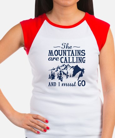 The Mountains Are Calling Women's Cap Sleeve T-Shi