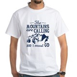 Mountain Mens Classic White T-Shirts