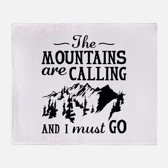 The Mountains Are Calling Stadium Blanket