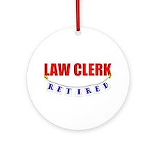Retired Law Clerk Ornament (Round)