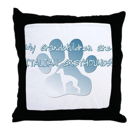 Italian Greyhound Grandchildren Throw Pillow