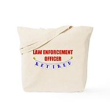 Retired Law Enforcement Officer Tote Bag