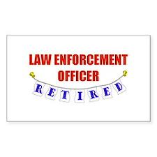 Retired Law Enforcement Officer Sticker (Rectangul