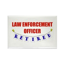 Retired Law Enforcement Officer Rectangle Magnet