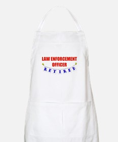 Retired Law Enforcement Officer BBQ Apron