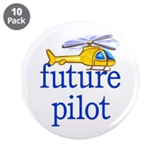"""future helicopter pilot 3.5"""" Button (10 pack)"""