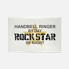 Handbell Ringer Rock Star Rectangle Magnet