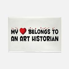 Belongs To An Art Historian Rectangle Magnet