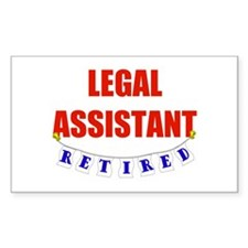Retired Legal Assistant Rectangle Decal