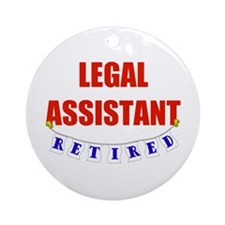 Retired Legal Assistant Ornament (Round)