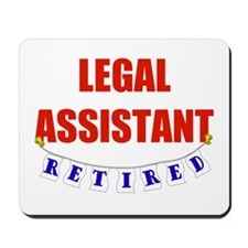 Retired Legal Assistant Mousepad
