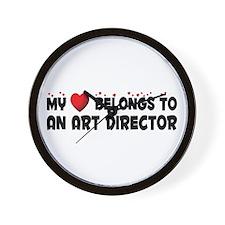 Belongs To An Art Director Wall Clock