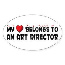Belongs To An Art Director Oval Decal