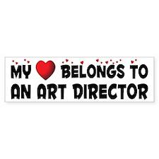 Belongs To An Art Director Bumper Bumper Sticker
