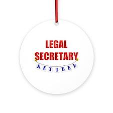 Retired Legal Secretary Ornament (Round)