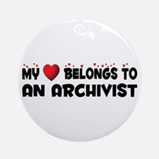 Belongs To An Archivist Ornament (Round)