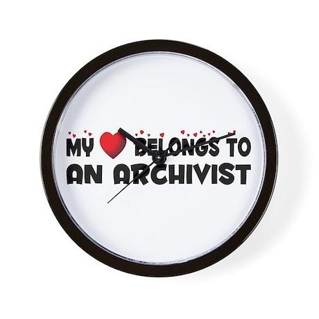Belongs To An Archivist Wall Clock