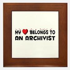 Belongs To An Archivist Framed Tile