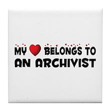Belongs To An Archivist Tile Coaster