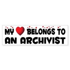 Belongs To An Archivist Bumper Bumper Sticker