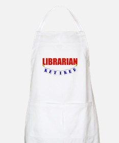 Retired Librarian BBQ Apron