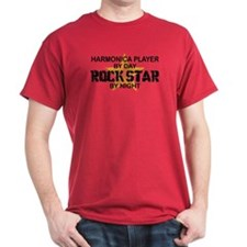 Harmonica Player Rock Star T-Shirt