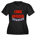 Retired Loan Officer Women's Plus Size V-Neck Dark