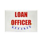 Retired Loan Officer Rectangle Magnet (100 pack)