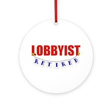 Retired Lobbyist Ornament (Round)
