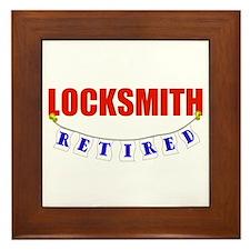 Retired Locksmith Framed Tile