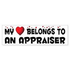 Belongs To An Appraiser Bumper Bumper Sticker