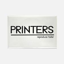Printer Joke Rectangle Magnet