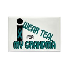 I Wear Teal For My Grandma 7.1 Rectangle Magnet