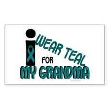 I Wear Teal For My Grandma 7.1 Sticker (Rectangula
