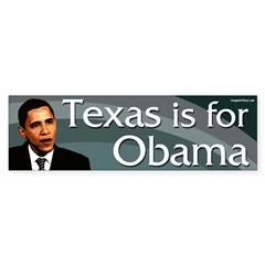 Texas is for Obama bumper sticker