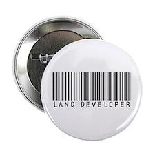 """Land Developer Barcode 2.25"""" Button"""