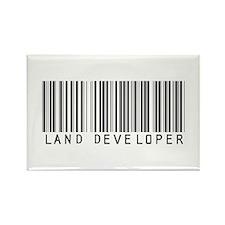 Land Developer Barcode Rectangle Magnet