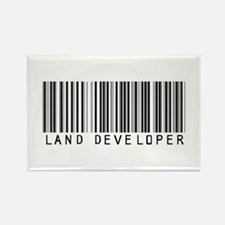 Land Developer Barcode Rectangle Magnet