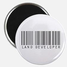 """Land Developer Barcode 2.25"""" Magnet (100 pack)"""