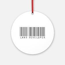 Land Developer Barcode Ornament (Round)