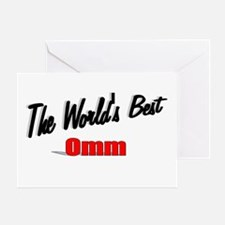 """The World's Best Omm"" Greeting Card"